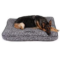 Drs. Foster And Smith Doctors Foster + Smith Personalized Ultimate Classic Grey Paisley Dog Bed, 36