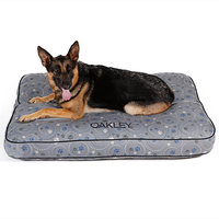 Drs. Foster And Smith Doctors Foster + Smith Personalized Ultimate Classic Grey Galaxy Paw Dog Bed, 36