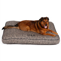 Drs. Foster And Smith Doctors Foster + Smith Personalized Ultimate Classic Taupe Paisley Dog Bed, 42