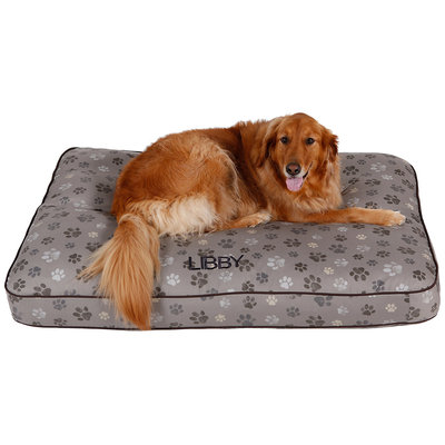 Drs. Foster And Smith Doctors Foster + Smith Personalized Ultimate Classic Distressed Paw Dog Bed, 42