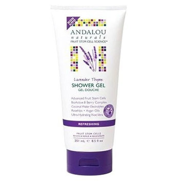 Andalou Naturals, Lavender Thyme Refreshing Shower Gel, 8.5 fl oz (251 ml) by Andalou Naturals