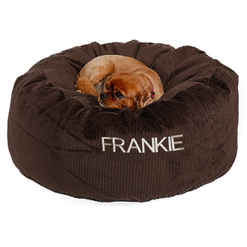 Drs. Foster And Smith Doctors Foster + Smith Personalized Deluxe Warm & Cuddly Slumber Ball Chocolate Dog Bed, 44