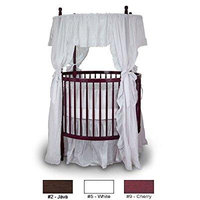 Angel Line Fixed Side Round Crib and Mattress Set