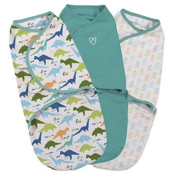 Summer Infant® Swaddle Me® Small 3-Piece Origami Dino Adjustable Infant Wrap Set