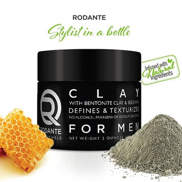 Bentonite Hair Clay Wax Pomade | Rodante for Men | Texture Matte Paste Finished | Beeswax Moisturizer | Detox & PH Balance | No Alcohol & Parabens. Made in USA 2 o