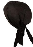 Fiumara Apparel Practical Durability Deluxe Head Wrap Cotton - Black Made in USA