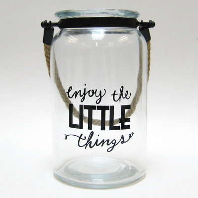 Manor Lane Enjoy The Little Things Glass Jar Table Decor, Multicolor