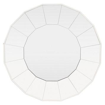 Three Hands Wall Mirror - White - 31.5 diam. in.