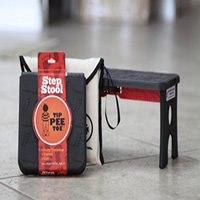 Tip Pee Toe Step Stool and Carrying Case, Black
