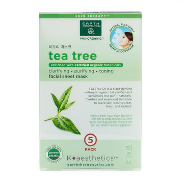 Earth Therapeutics 5-pk. Tea Tree Oil Face Masks, Multicolor