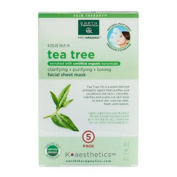 Earth Therapeutics 5-pk. Tea Tree Oil Face Masks, Multicolor