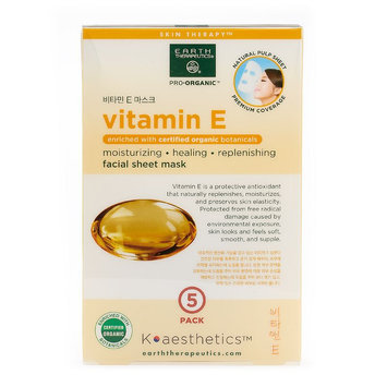 Earth Therapeutics 5-pk. Vitamin E Face Masks, Multicolor