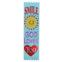 Pack of 30 Religious Sunday School Smile God Loves You
