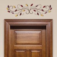 Stratton Home Decor Metal Scroll Leaves Wall Decor, Multicolor