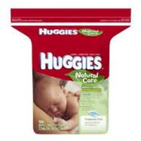 Huggies Natural Care Fragrance Free Baby Wipes, 552 Total Wipes 184 Count (Pack of 3), Packaging May Vary