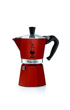 Bialetti Moka Express Red Stovetop Espresso Coffee Maker, 6 Cup