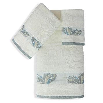Popular Bath Products 3-piece Butterfly Towel Set, Beig/Green (Beig/Khaki)