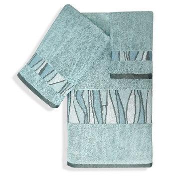 Popular Bath Products 3-piece Tidelines Bath Towel Set, Blue
