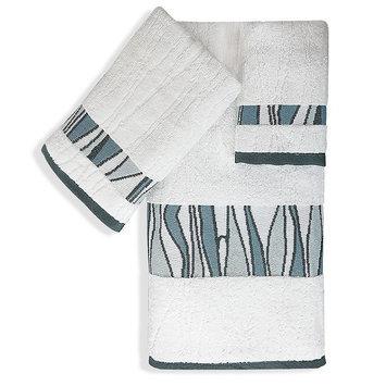 Popular Bath Products 3-piece Tidelines Bath Towel Set, White
