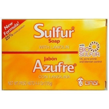 Grisi Bio Sulfur Soap with Lanolin 3-pack 4.4 Oz.