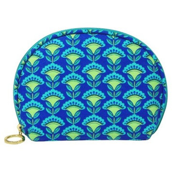 Contents Cobalt Blossom Round Top Cosmetic Bag