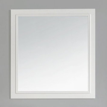Simpli Home Cambridge 34 in. L x 32 in. W Wall Mounted Vanity Decor Mirror in Soft White