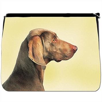 Whippet Dog In Field Black Large Messenger School Bag [Whippet Dog In Field]