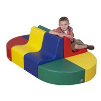 Children's Factory Tot Train Station 8 Piece Soft Seating