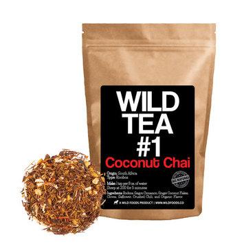 Coconut Chai, Rooibos Loose Leaf Tea Blend, 100% Natural Organically Grown Ingredients - Wild Tea #1 Herbal Chai Tea by Wild Foods (4 ounce)
