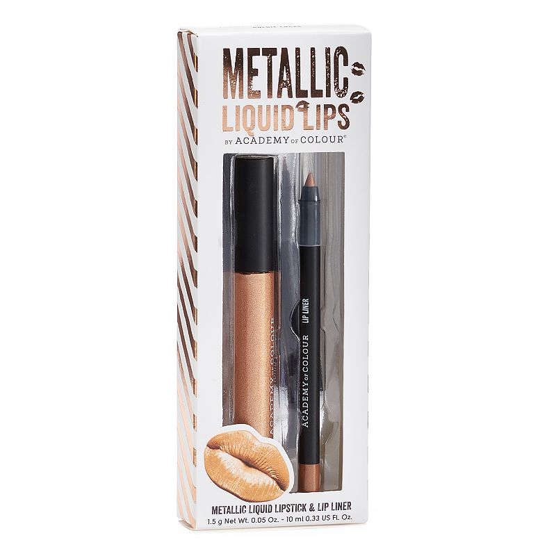 Academy of Colour 2-pc. Metallic Liquid Lips, Multicolor