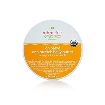 Mambino Organics Oh Baby! Anti-Stretch Belly Butter, Omega + 7 Super Plants, 2.5 Ounce