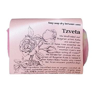 Waterfall Glen Soap Company Tzveta - Bulgarian Rose, vegan, natural bath soap with shea butter 5.8oz.