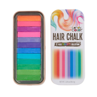 Candy Color Hair Chalk - Brights Collection, Multicolor