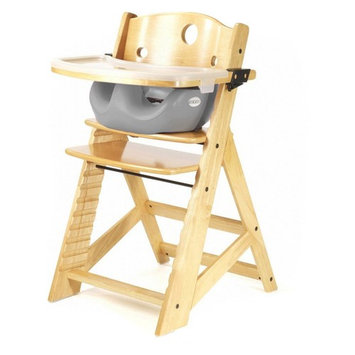 Keekaroo Height Right Highchair with Insert & Tray - Raspberry - Natural Base