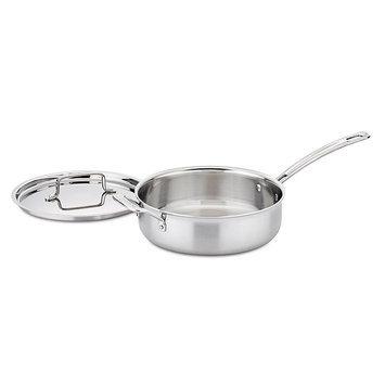 Cuisinart MultiClad 3.5 Qt. Saute Pan w/Helper & Cover