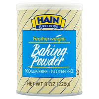 Hain Pure Foods Featherweight Baking Powder, 8 oz, 12 pack