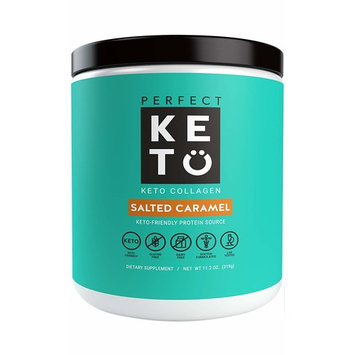 Perfect Keto Protein Powder Salted Caramel: Grass Fed Collagen Peptides Low Carb Keto Drink Supplement With MCT Oil Powder. Best as Keto Drink... [Caramel]