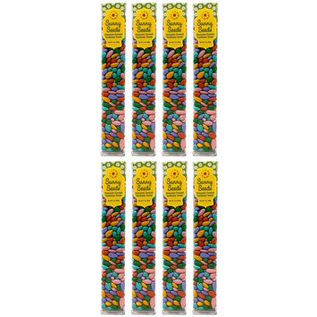 Chocolate Covered Sunflower Seeds - Pastel Multicolored Candy Coated Treats - Easter Basket Candy - Sweet and Crunchy Topping - Pack of 8