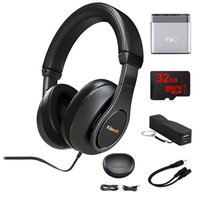 Klipsch Reference Over-Ear Headphones (Black) w/ FiiO Portable Amplifier Bundle
