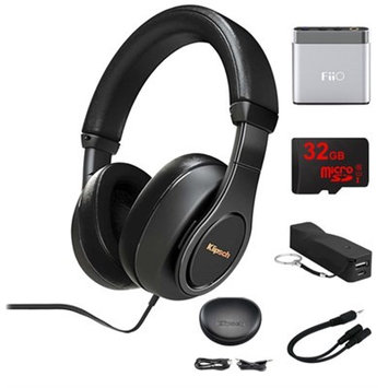 Klipsch Reference Over-Ear Headphones (Black) w/ FiiO Portable Amplifier Bundle