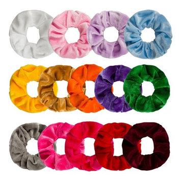 Ondder 14 Pack Hair Scrunchy Velvet Scrunchies Hair Bobble Elastics Hair Bands Headbands Women Scrunchies Bobbles Hair Ties, 14 Colors