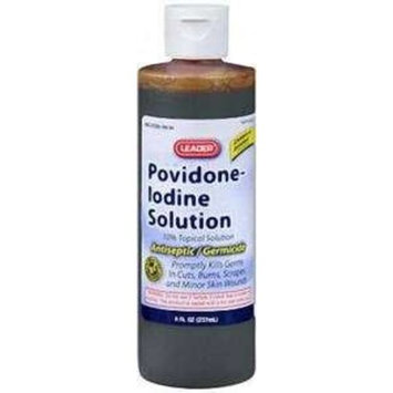 Leader Povidone Iodine Solution 10% 8 oz.