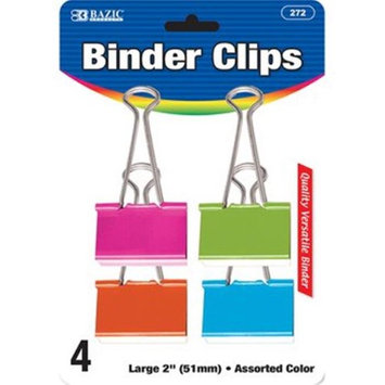 Bazic 2281627 2 in. Binder Clips - Assorted Colors (Pack of 24)