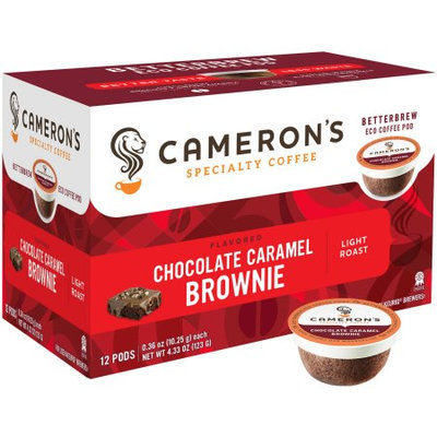 Cameron's Chocolate Caramel Brownie Single Serve Coffee Cups-12-Packs