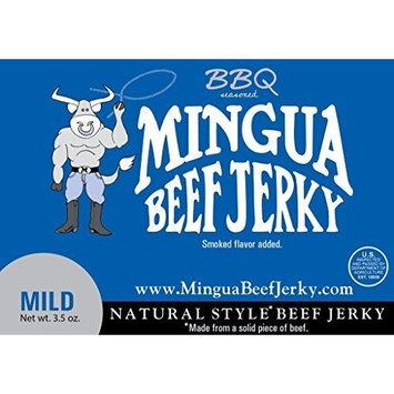 Mingua BBQ Beef Jerky 4 Pack (4-3.5oz Packages * 14oz total)