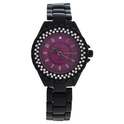 Kim & Jade 2033L-Bp Black Stainless Steel Bracelet Watch Watch For Women 1 Pc