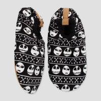 Men's Jack Skellington Fuzzy Babba Slipper Socks - Black