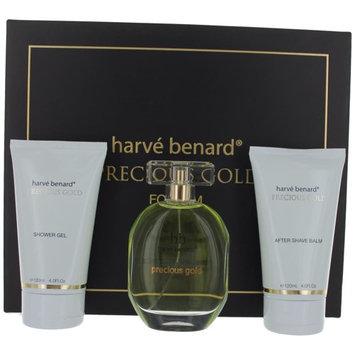 Precious Gold Cologne by Harve Bernard, 3 Piece Gift Set for Men