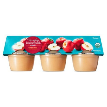 Organic Unsweetened Applesauce 6ct - 4oz - Simply Balanced™
