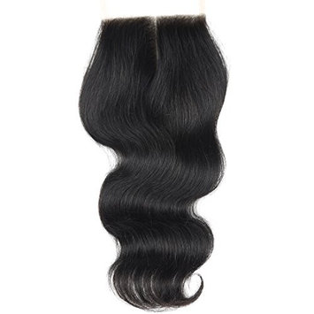 BLACKMOON HAIR 16 Inch Middle Part Lace Closure Body Wave 130% Density 4
